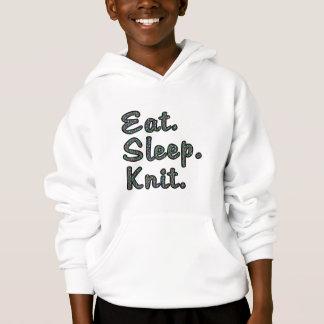 Eat. Sleep. Knit. Hoodie