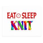 Eat Sleep Knit Post Card