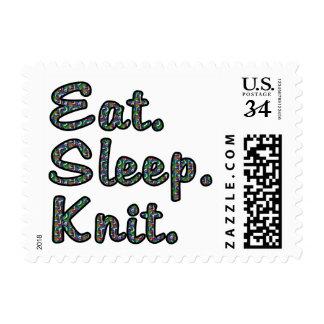Eat. Sleep. Knit. Postage