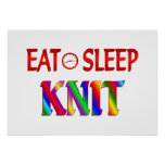Eat Sleep Knit Print