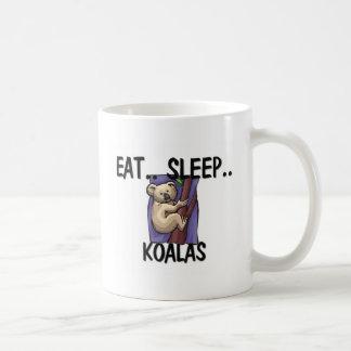 Eat Sleep KOALAS Classic White Coffee Mug