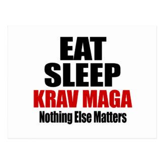 EAT SLEEP KRAV MAGA POSTCARD