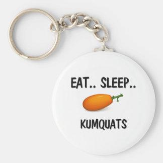 Eat Sleep KUMQUATS Key Chains