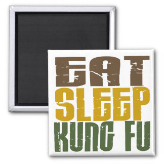 Eat Sleep Kung Fu 1 2 Inch Square Magnet