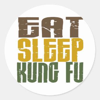 Eat Sleep Kung Fu 1 Classic Round Sticker