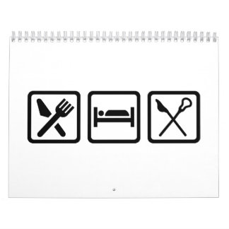 Eat Sleep Lacrosse Calendar