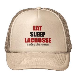 Eat sleep lacrosse trucker hat