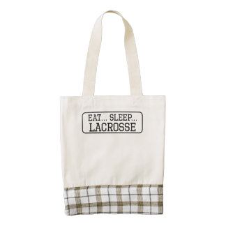 Eat Sleep Lacrosse Zazzle HEART Tote Bag