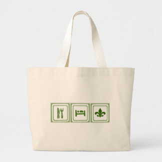 Eat Sleep... Large Tote Bag