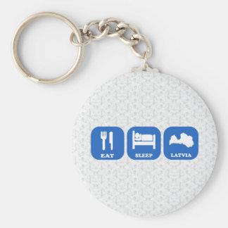 Eat Sleep Latvia Key Chains