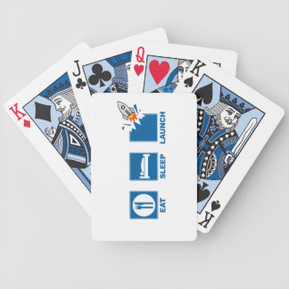 Eat Sleep Launch Bicycle Playing Cards