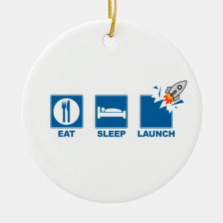 Eat Sleep Launch Christmas Tree Ornaments