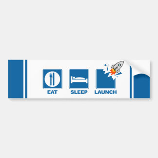 Eat Sleep Launch V2 Car Bumper Sticker