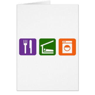 Eat Sleep Laundry Card