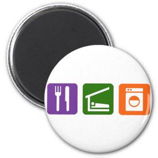 Eat Sleep Laundry Magnet