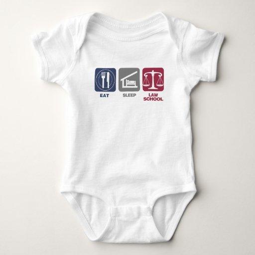 Eat Sleep Law School Baby Bodysuit