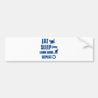 Eat sleep lawn bowl bumper sticker
