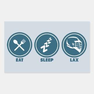 Eat Sleep Lax Rectangular Stickers