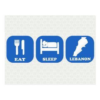 Eat Sleep Lebanon Postcard