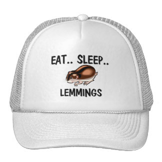 Eat Sleep LEMMINGS Hats