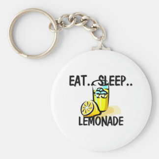 Eat Sleep LEMONADE Basic Round Button Keychain