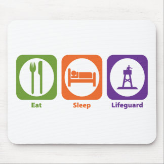 Eat Sleep Lifeguard Mouse Pad