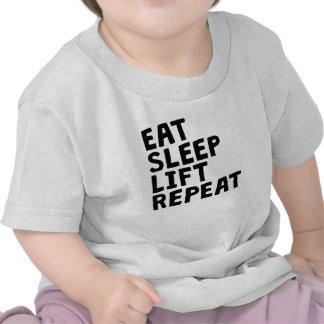 Eat Sleep Lift Repeat Shirts