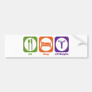 Eat Sleep Lift Weights Car Bumper Sticker