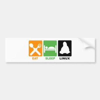 EAT SLEEP LINUX BUMPER STICKER