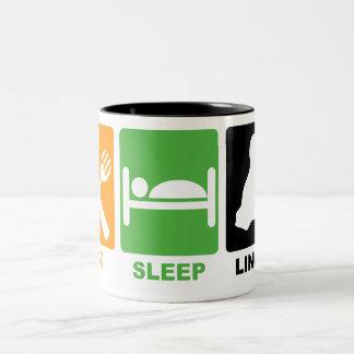 EAT SLEEP LINUX COFFEE MUG