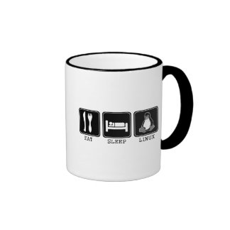Eat. Sleep. Linux. Ringer Coffee Mug