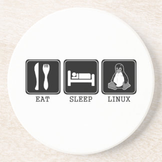 Eat. Sleep. Linux. Sandstone Coaster