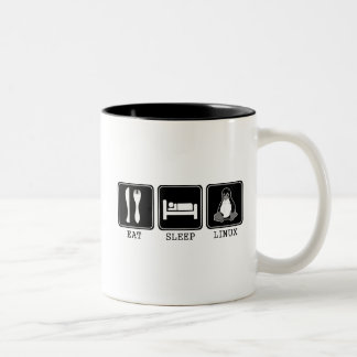 Eat. Sleep. Linux. Two-Tone Coffee Mug