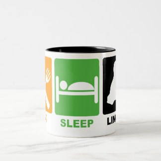 EAT SLEEP LINUX Two-Tone COFFEE MUG
