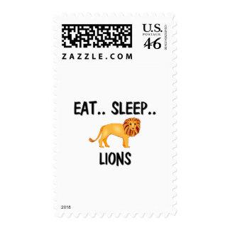 Eat Sleep LIONS Postage Stamps