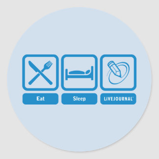 Eat, Sleep, LiveJournal Classic Round Sticker