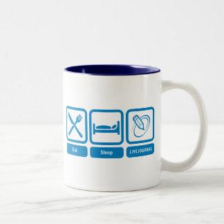 Eat, Sleep, LiveJournal Coffee Mug