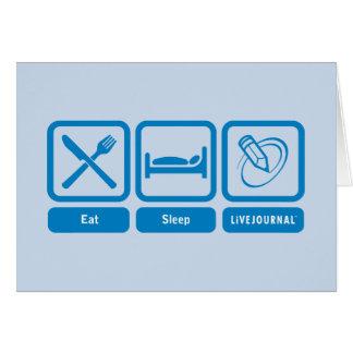 Eat, Sleep, LiveJournal Greeting Card