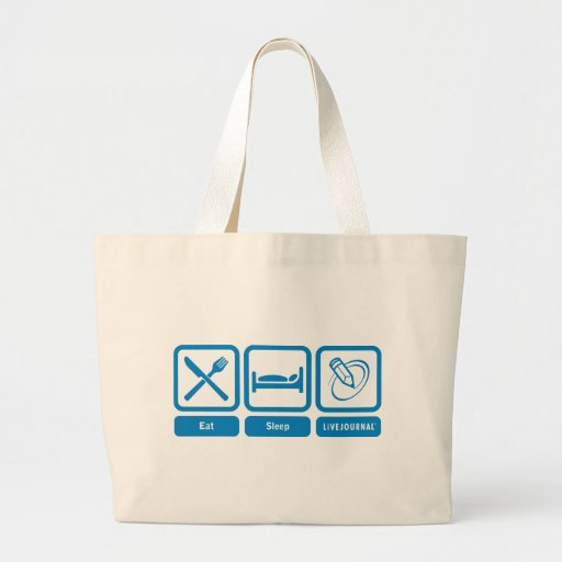 Eat, Sleep, LiveJournal Jumbo Tote Bag