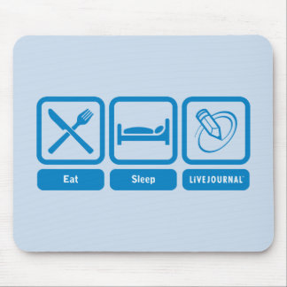 Eat, Sleep, LiveJournal Mouse Pad