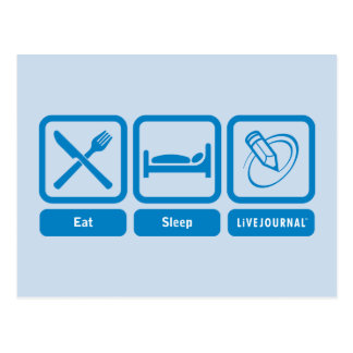 Eat, Sleep, LiveJournal Post Card