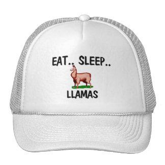 Eat Sleep LLAMAS Trucker Hat