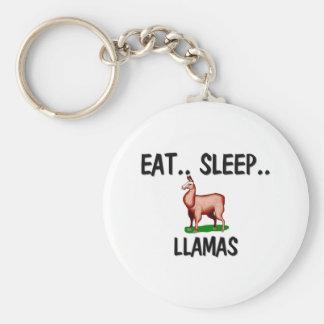 Eat Sleep LLAMAS Keychains