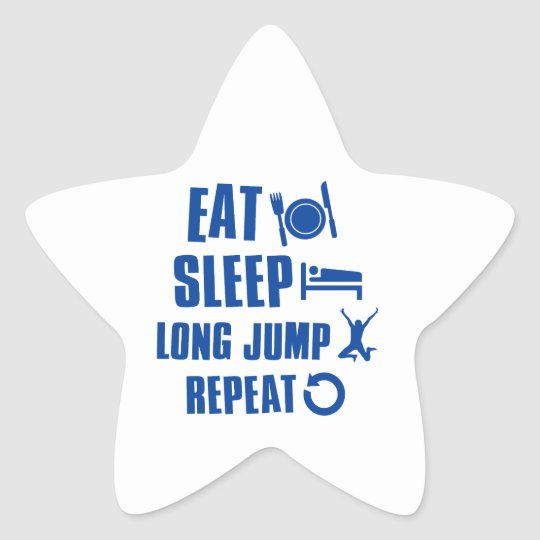 Eat sleep Long Jump Star Sticker