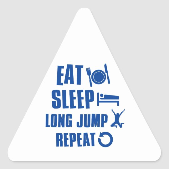 Eat sleep Long Jump Triangle Sticker