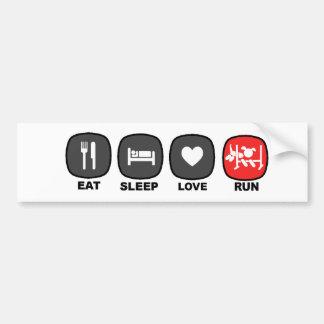 Eat. Sleep. Love. Red. Bumper Stickers