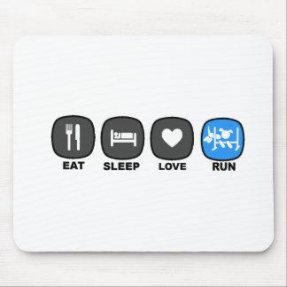 Eat. Sleep. Love. Run. Mousepad