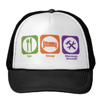 Eat Sleep Maintain Aircraft Trucker Hat