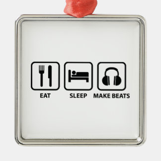 Eat Sleep Make Beats Metal Ornament