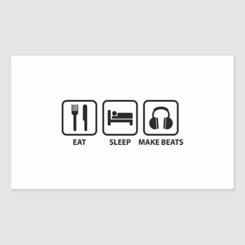 Eat Sleep Make Beats Rectangular Sticker